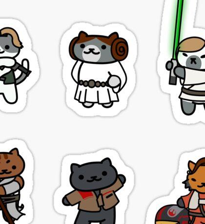 Star Wars Double Trios  - Neko Atsume Crossover Sticker Set (FORMATTED BEST FOR MEDIUM/ LARGE) Sticker