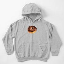 Chocolate Donut Pattern - Pink Kids Pullover Hoodie