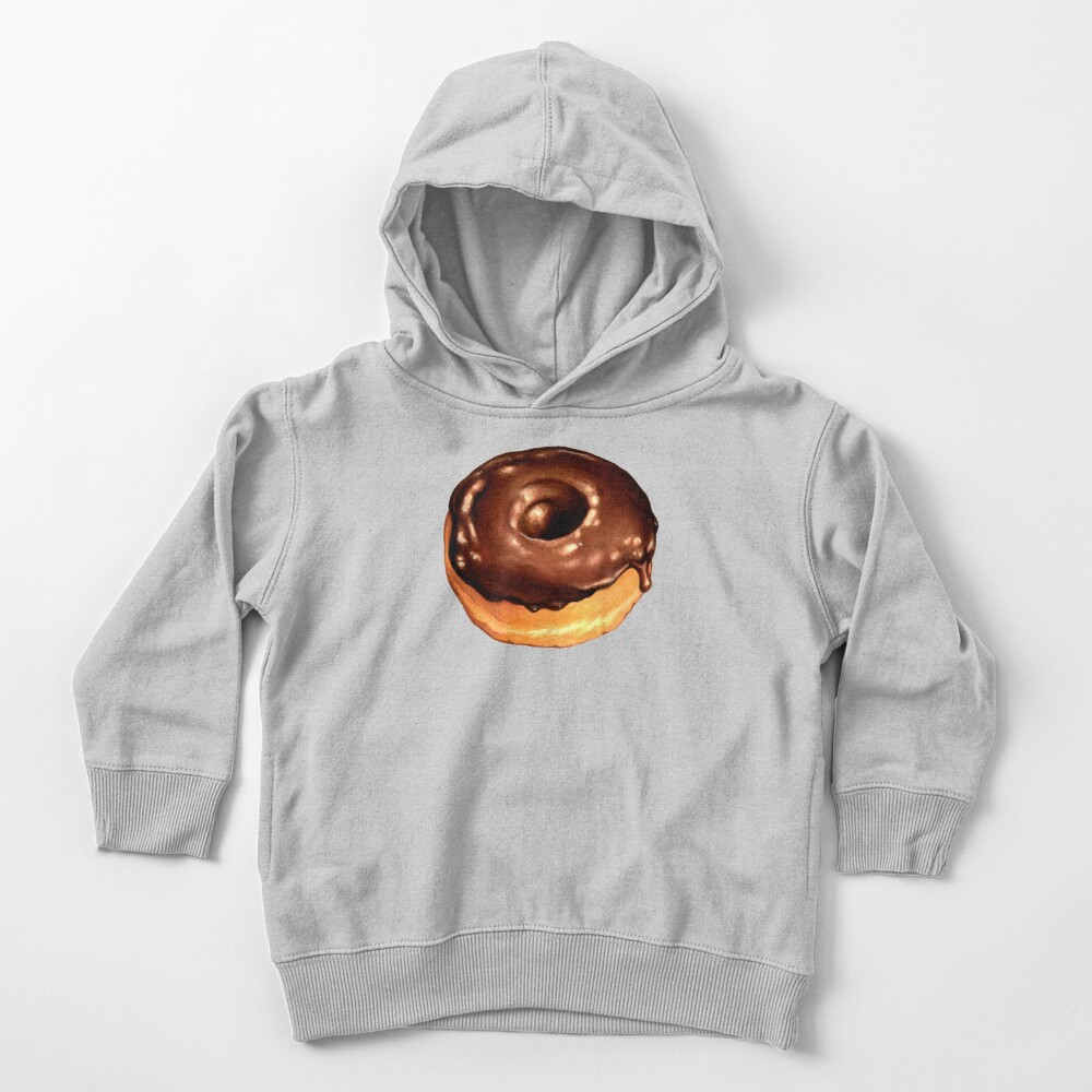 Chocolate Donut Pattern - Pink Toddler Pullover Hoodie