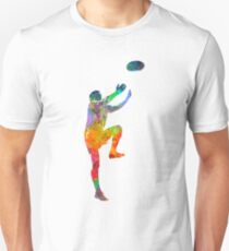 Rugby man player 05 in watercolor Unisex T-Shirt