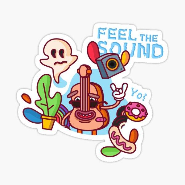 Feel The Sound Sticker