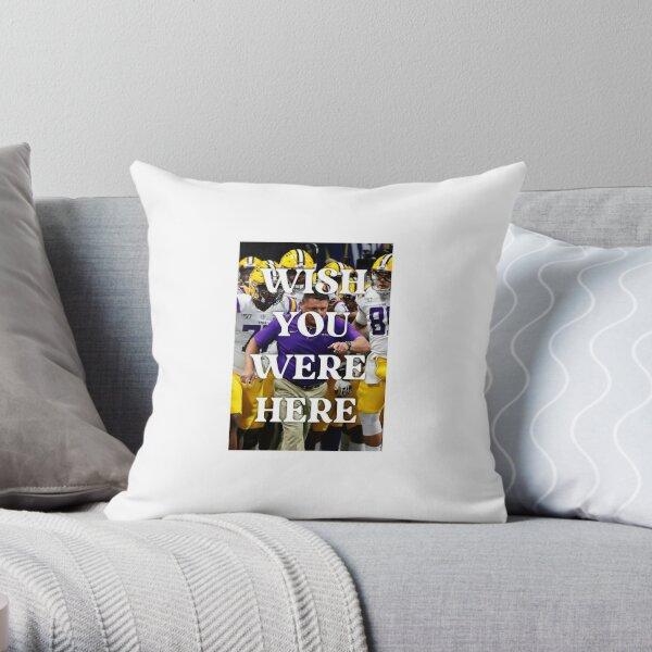 LSU Football Pocket Pillow Reading pillow Book pillow Game Night Pillow Remote Tigers Louisiana Decorative pillow