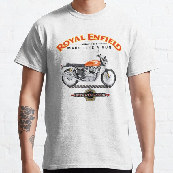 Motocyclette Royal Enfield Interceptor T-shirt classique