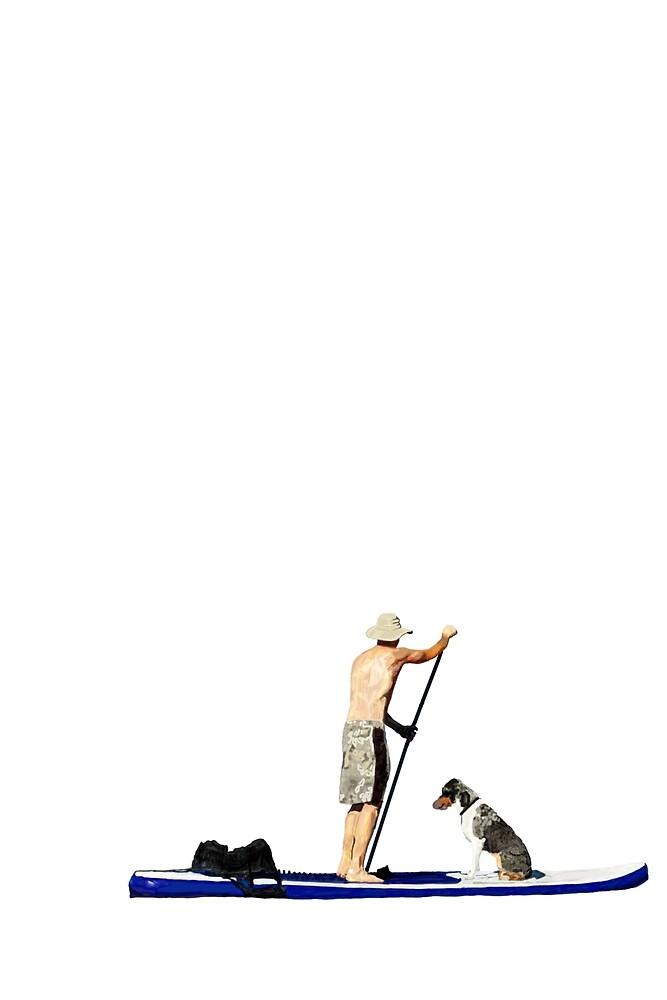 Johnny the Australian Shepherd Paddleboards Roosevelt Lake, October 2014 by QWERTYvsDVORAK