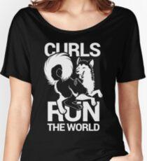 CURLS RUN THE WORLD Women's Relaxed Fit T-Shirt