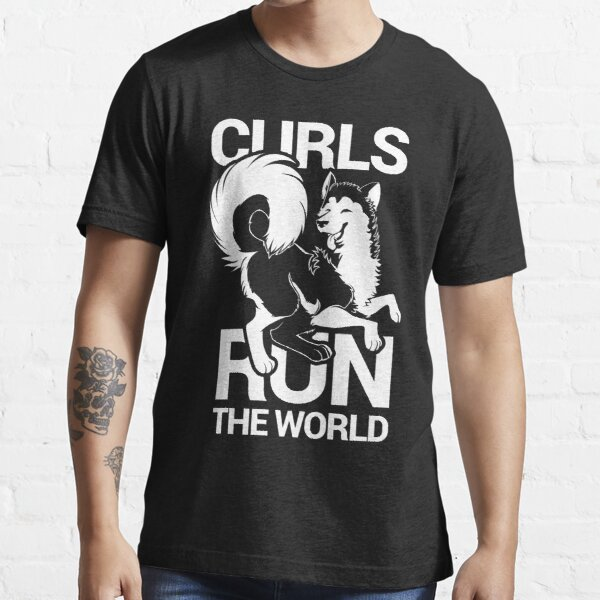 CURLS RUN THE WORLD Essential T-Shirt