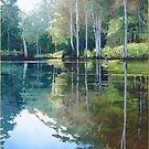 "Original Painting: ""Moments of Reflection"" - Maroochy Bushland Botanic Gardens, Tanawha, QLD, Australia by Martin Lomé"