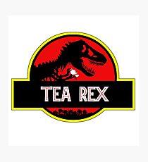Tea Rex Coffee Relax Photographic Print