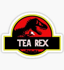 Tea Rex Coffee Relax Sticker
