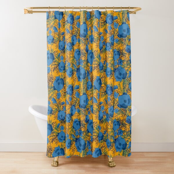 Blue florals  Shower Curtain