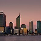 Perth Skyline at Dusk (2016) by Austin Dean