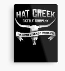 Hat Creek Cattle Company Metal Print