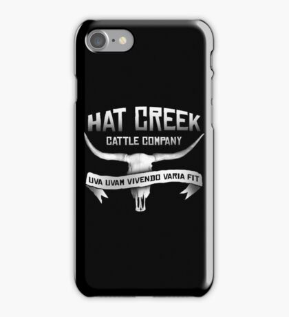 Hat Creek Cattle Company iPhone Case/Skin