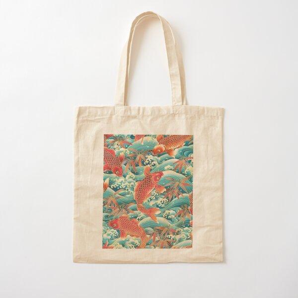 Orange Koi Fish at Blue Ocean Cotton Tote Bag