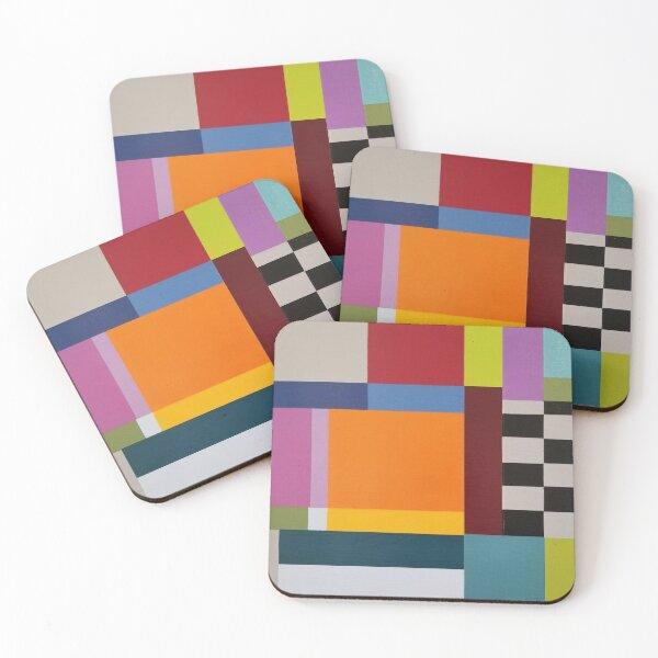 Modern Geometric Designs Coasters (Set of 4)