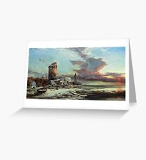 Henry Bright - The Setting Sun Greeting Card