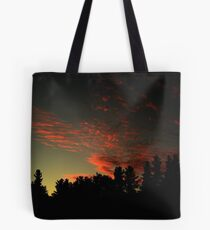 Blood stained sky Tote Bag