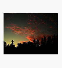 Blood stained sky Photographic Print