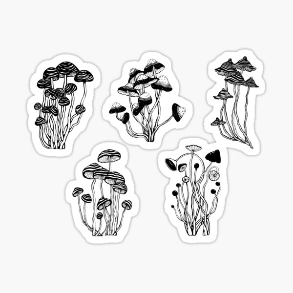 Mushrooms sticker set Sticker