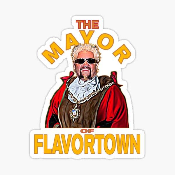 New Guy Fieri Fans Mayor of Flavortown  Sticker