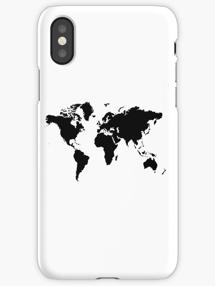 Vinilos y fundas para iphone black and white world map de black and white world map de haroulita gumiabroncs Image collections