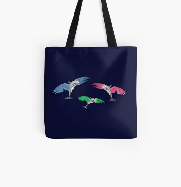Flying Dolphins (version 3) All Over Print Tote Bag