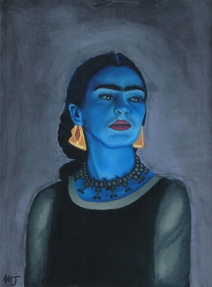 Blue Frida by mjviajes