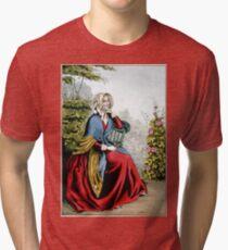Elizabeth - 1848 - Currier & Ives Tri-blend T-Shirt