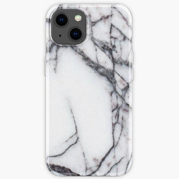 Weißer Marmor Textur-Design. iPhone- oder Samsung-Handyhülle & Abdeckung iPhone Flexible Hülle