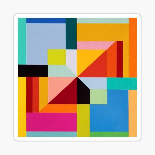 Modern Geometric Designs on everything Sticker