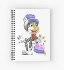 Charcoal and Oil - Jiminy Cricket Spiral Notebook