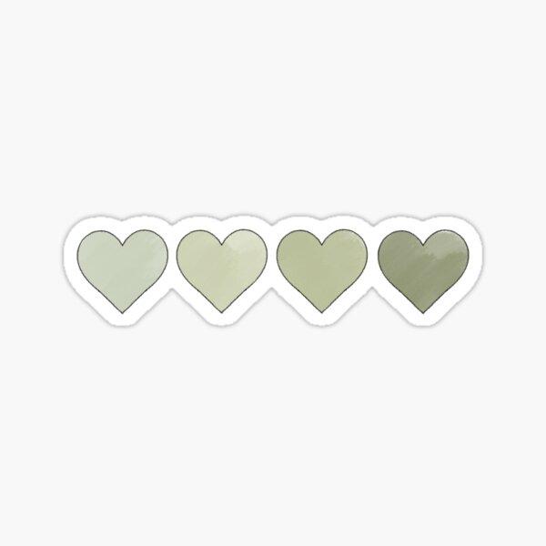 Sage Green Hearts Sticker