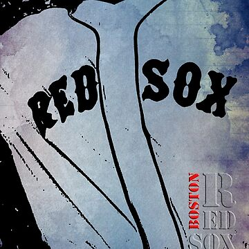 Boston Red Sox, baseball team, wall art print, typography by drawspots