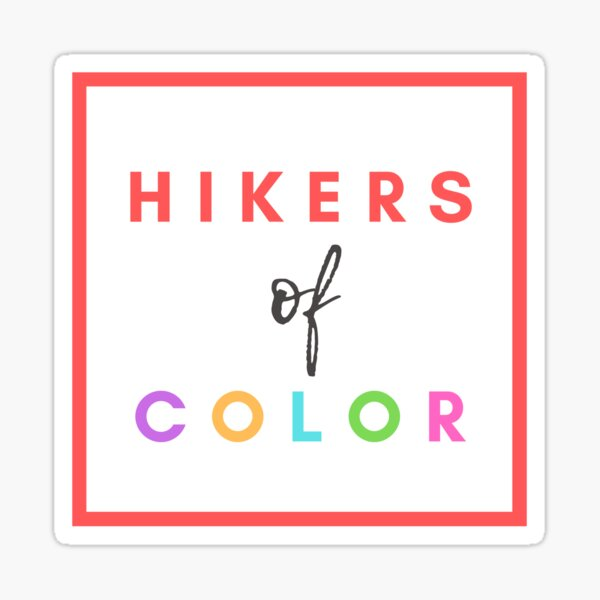 Hikers of Color Sticker