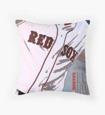 Boston Red Sox Baseball, Typography Throw Pillow