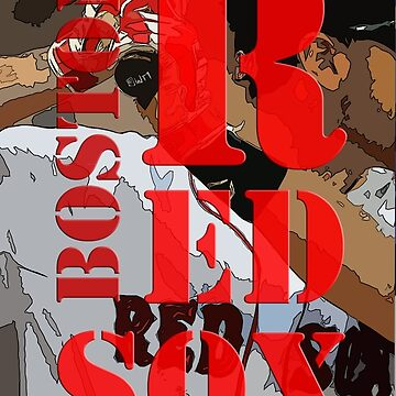 Red Sox, Boston, baseball team, Original Typography Art by drawspots