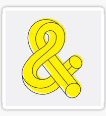 Tubular Ampersand Sticker