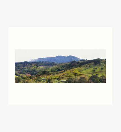 How green was my Costa Rican valley Art Print