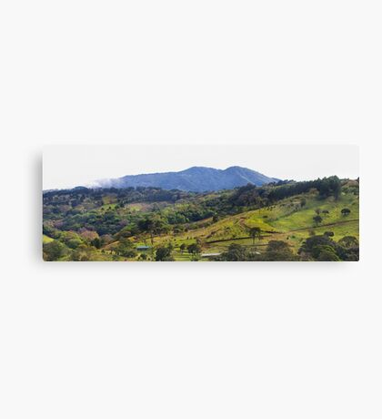 How green was my Costa Rican valley Canvas Print