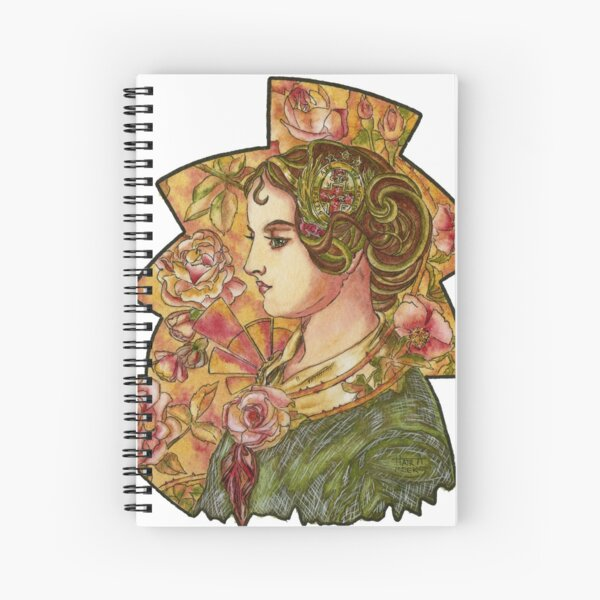 Florence Nightingale's Rose Spiral Notebook