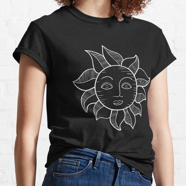 Mandala Happy Sun with a face Classic T-Shirt