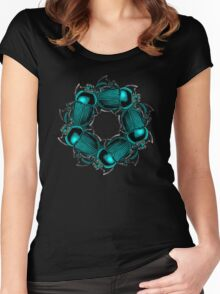 EGYPTIAN SCARAB Women's Fitted Scoop T-Shirt