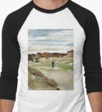 1882-Vincent van Gogh-Bleaching Ground at Scheveningen-32x54 Men's Baseball ¾ T-Shirt