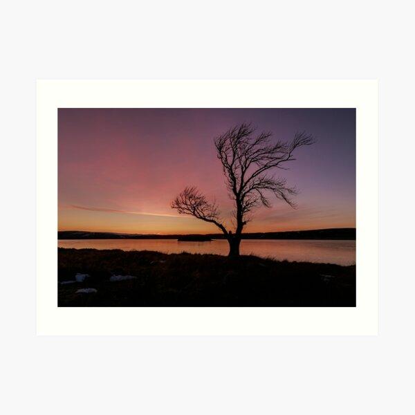 Lochindorb Sunset Art Print