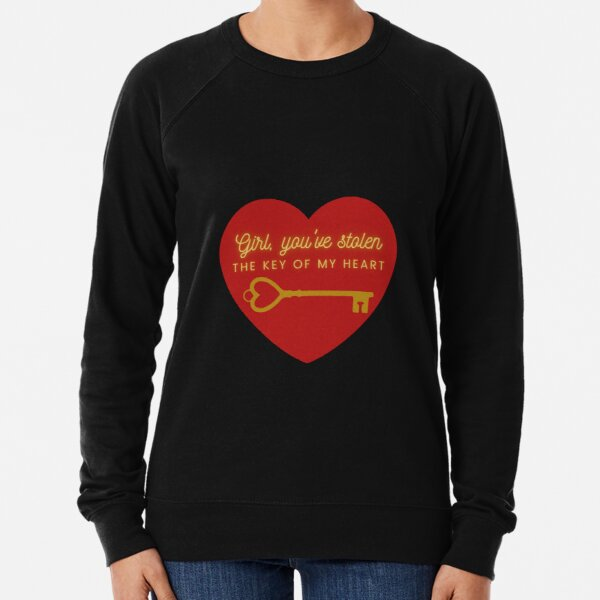 You have the key of my heart Lightweight Sweatshirt