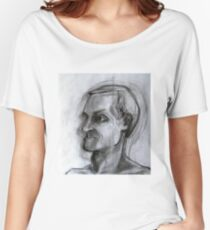 Human figure study nr2, 90-95cm, charcoal Women's Relaxed Fit T-Shirt