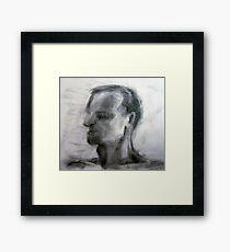 Human figure study nr3, 90-95cm, charcoal Framed Print
