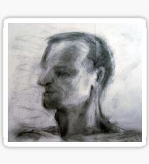 Human figure study nr3, 90-95cm, charcoal Sticker