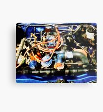 Under The Hood Abstract Metal Print