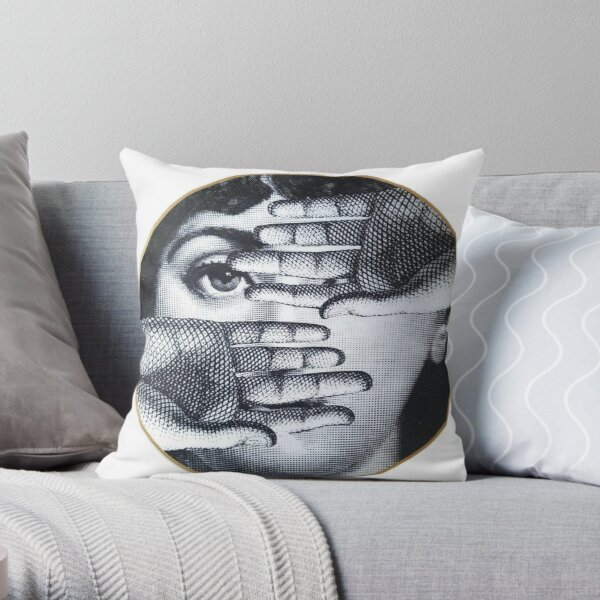 Fornasetti Eye - Lina Cavalieri Throw Pillow
